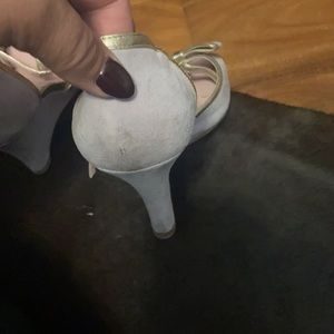 Moschino cheap and Chic lilac bow wedges